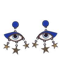 Yazbukey - Metallic Bette Davis Eye Earrings - Lyst