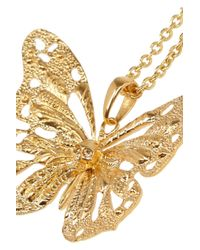 Alexander McQueen - Metallic Goldtone Swarovski Crystal Butterfly Necklace - Lyst