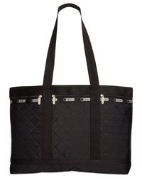LeSportsac | Black Large Quilted Travel Tote | Lyst