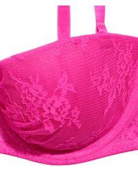 H&M Pink Lace Balconette Bra