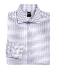 Ike Behar - Purple Checked Dress Shirt for Men - Lyst
