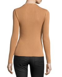 Michael Kors - Natural Long-sleeve Top - Lyst