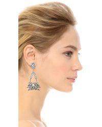 Lulu Frost Metallic Larkspur Drop Earrings - Bronze Ombre