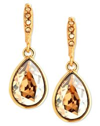 Givenchy | Metallic Gold-tone Golden Shadow Swarovski Element Drop Earrings | Lyst
