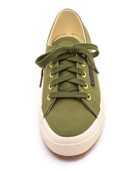 Superga Green The Man Repeller X Satin Classic - Mustard Yellow