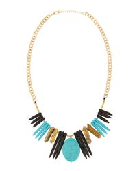 Panacea - Blue Pyrite & Howlite Spike Necklace - Lyst