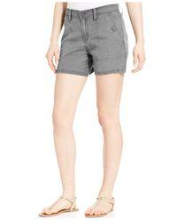 Calvin Klein Jeans - Gray Linen Shorts - Lyst