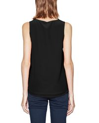 French Connection - Black Sunshine Silk Sleeveless Top - Lyst