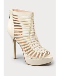 Bebe | Natural Zoyaa Strappy Sandals | Lyst