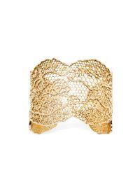 Aurelie Bidermann Metallic Vintage Lace Gold Plated Bracelet