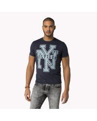 Tommy Hilfiger | Black Organic Cotton Crew Neck T-shirt for Men | Lyst