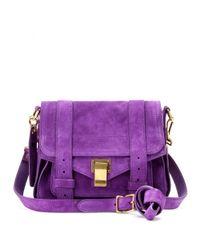 Proenza Schouler Purple Ps1 Pouch Suede Shoulder Bag