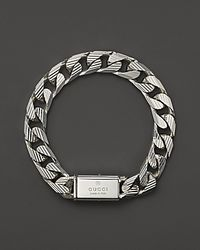 Gucci | Metallic Mens Trademark Stripes Link Bracelet 8 for Men | Lyst