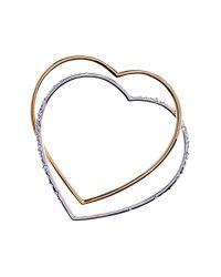 Karen Millen Metallic Linked Heart Bangles