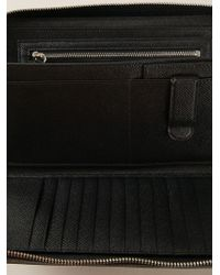 Z Zegna Black Zipped Clutch for men
