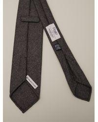 Drake's - Gray Knit Tie for Men - Lyst