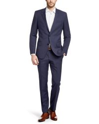BOSS Gray Two-piece Slim Fit Wool Suit for men