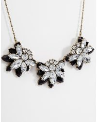 ASOS | Metallic Rhinestone Necklace | Lyst