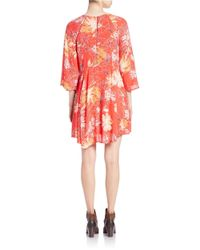Free People | Red Printed Tunic Dress | Lyst