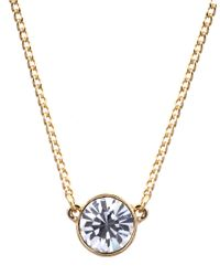 Givenchy | Metallic Goldtone And Crystal Pendant Necklace | Lyst