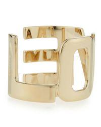 Givenchy | Metallic Brass Love Cuff Bracelet | Lyst
