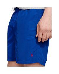 "Polo Ralph Lauren - Blue 6"" Solid Hawaiian Swim Trunk for Men - Lyst"