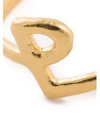 Bjorg Metallic P Alphabet Ring