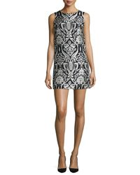Alice + Olivia - Multicolor Clyde Sleeveless Damask Shift Dress - Lyst