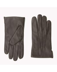 Tommy Hilfiger Brown Leather Gloves Gift Pack for men