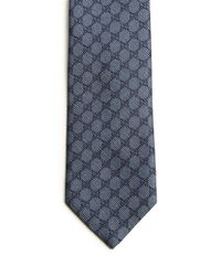 Gucci | Blue Patterned Silk Tie for Men | Lyst