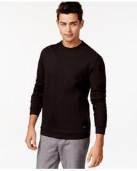Calvin Klein Black Pieced Crew-neck Pullover for men