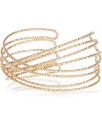 River Island - Metallic Gold Tone Wrap Cuff Bracelet - Lyst