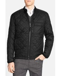 Andrew Marc | Black Marc New York By 'orchard' Quilted Jacket With Removable Faux Fur Lining for Men | Lyst