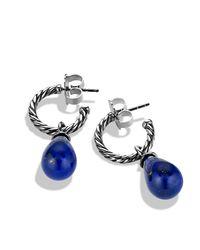 David Yurman | Blue Cable Classic Bead & Hoop Earrings | Lyst