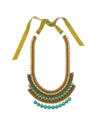 Margot & Me | Metallic Erin Necklace In Gold | Lyst