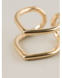 Coops London - Metallic Small Pointed Double Hoop Squeeze On Earrings - Lyst