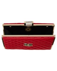 Love Moschino - Red I Love Superquilted Evening Clutch - Lyst