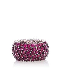 Sidney Garber | Pink Ruby Flexible Ring | Lyst