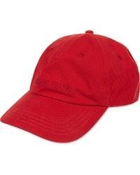 Armani Jeans Red Cotton Logo Baseball Cap for men