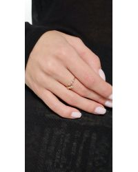 EF Collection - Metallic Multi Bezel Diamond Twist Ring - Gold/clear - Lyst