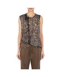 Haider Ackermann - Brown Women's Jersey T-shirt - Lyst