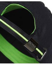 BOSS Green | Black Logo Cap for Men | Lyst