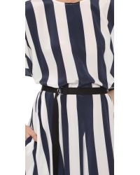 TOME Blue Striped Jumpsuit
