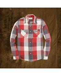 Denim & Supply Ralph Lauren Multicolor Plaid Ward Sport Shirt for men
