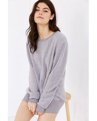 Project Social T | Gray Dylan Cozy Oversized Pullover Sweatshirt | Lyst