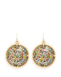 Lulu Frost | Metallic 'audrey' Glitter Dome Drop Earrings | Lyst