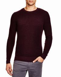 Bloomingdale's - Purple Merino Crewneck Sweater for Men - Lyst