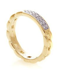 Noir Jewelry | Metallic Cara Pave Id Ring | Lyst