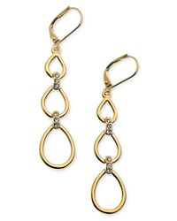 T Tahari | Metallic 14k Gold-plated Glass Crystal Drop Earrings | Lyst