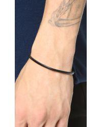 Caputo & Co. - Black Easy Leather Bracelet for Men - Lyst
